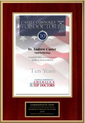 Connolly Award for 10 year top Lasik surgeon